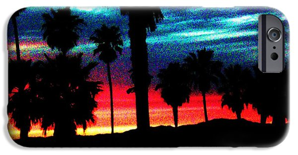 Palm Tree Greeting Cards iPhone Cases - Trilight in Venice  iPhone Case by Daniele Smith