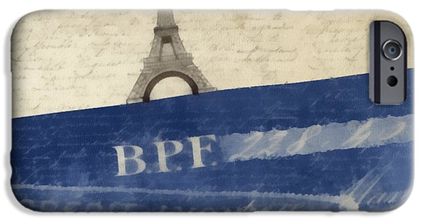 Pillows iPhone Cases - Trip to Paris Square Pillow Size iPhone Case by Edward Fielding