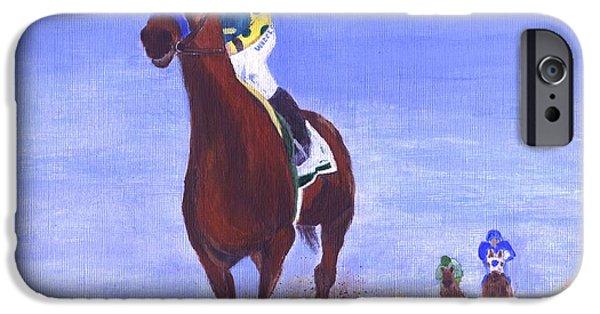 Horse iPhone Cases - Triple Crown Winner iPhone Case by Jamie Frier