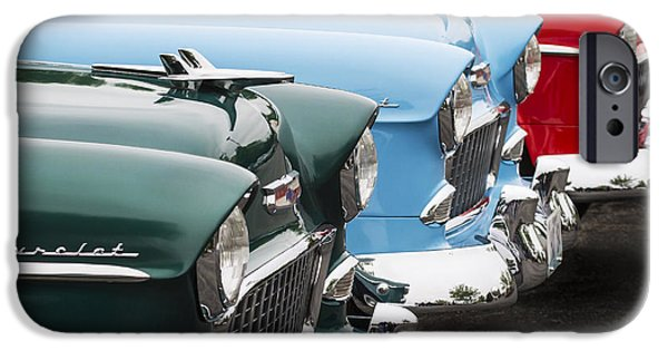 Old Cars iPhone Cases - Three of a Kind iPhone Case by Dennis Hedberg
