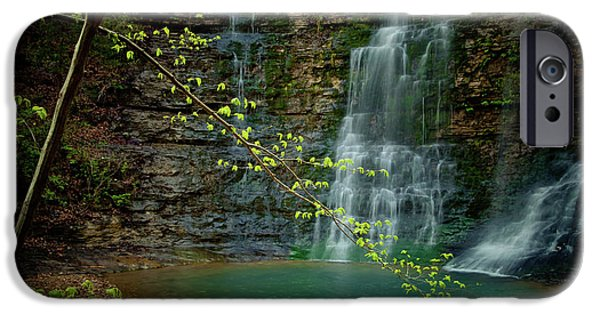Arkansas iPhone Cases - Tripple Falls iPhone Case by Iris Greenwell