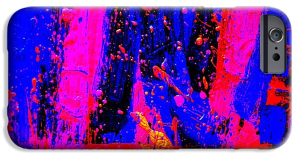 Fine Art Abstract iPhone Cases - Triptych 2 cropped iPhone Case by John  Nolan
