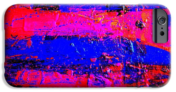 Fine Art Abstract iPhone Cases - Triptych 3 cropped iPhone Case by John  Nolan