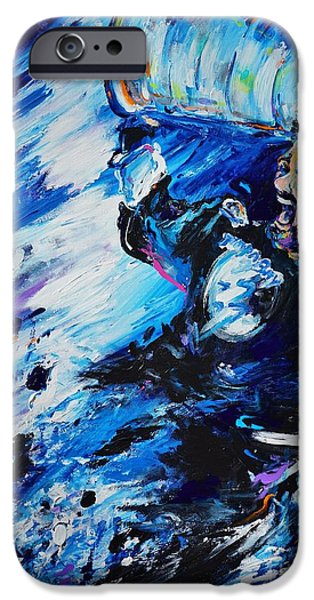 Hockey Paintings iPhone Cases - Triumph iPhone Case by Dena Lowery