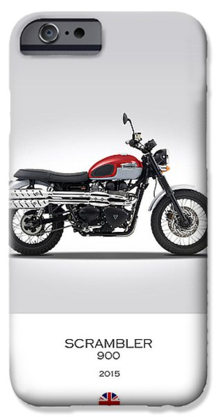 Motorcycle iPhone Cases - Triumph Scrambler 2015 iPhone Case by Mark Rogan