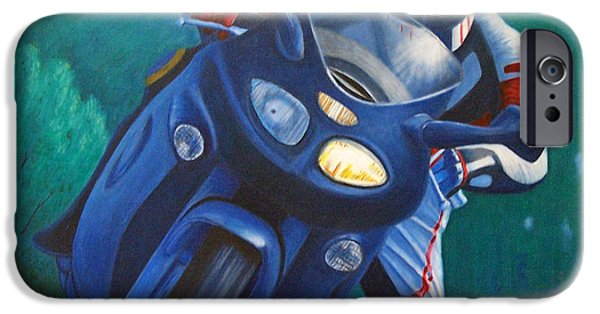 Motorcycle iPhone Cases - Triumph Sprint - Franklin Canyon  iPhone Case by Brian  Commerford