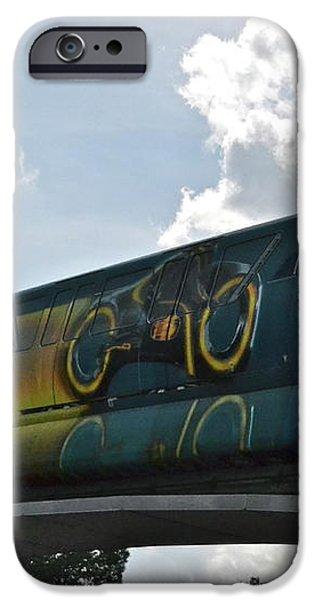 TRON Tram iPhone Case by Carol  Bradley