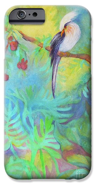 Indoor Still Life Paintings iPhone Cases - Tropical Afternoon iPhone Case by Sharon Nelson-Bianco