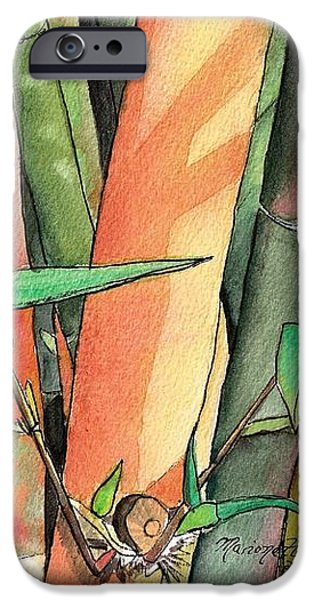 Tropical Bamboo iPhone Case by Marionette Taboniar