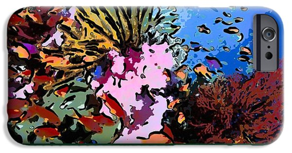 Granulatus iPhone Cases - Tropical coral reef  2 iPhone Case by Lanjee Chee