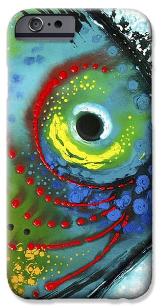 Contemporary Abstract iPhone Cases - Tropical Fish iPhone Case by Sharon Cummings
