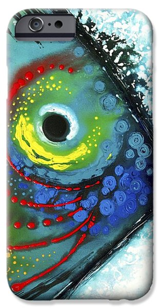 Tropical Paintings iPhone Cases - Tropical Fish iPhone Case by Sharon Cummings