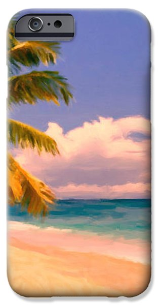 Tropical Island 6 - Painterly iPhone Case by Wingsdomain Art and Photography