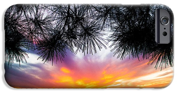 Ocean Sunset iPhone Cases - Tropical Sunset  iPhone Case by Parker Cunningham