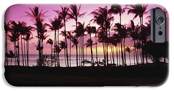 Ocean Sunset iPhone Cases - Tropical Sunset With Magenta Sky iPhone Case by Bill Schildge
