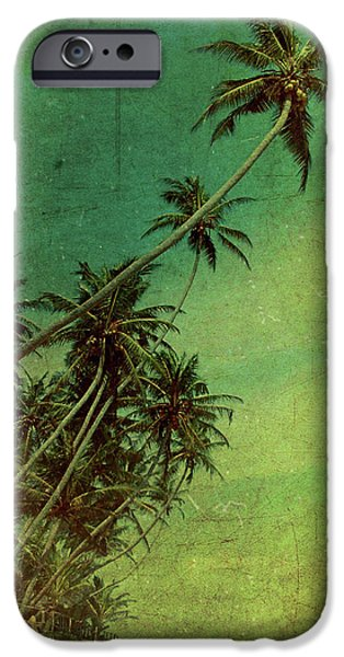 Warm Digital Art iPhone Cases - Tropical Vestige iPhone Case by Andrew Paranavitana
