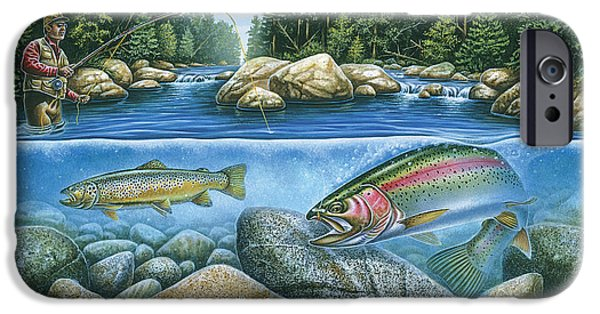 Fishermen iPhone Cases - Trout View iPhone Case by JQ Licensing