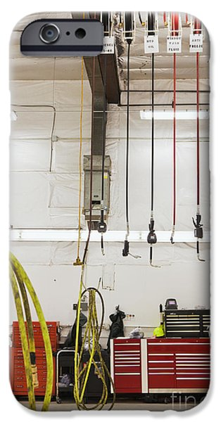 Diagnostic iPhone Cases - Truck Repair Shop iPhone Case by Don Mason