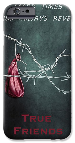 Creepy iPhone Cases - True Friends iPhone Case by Joana Kruse