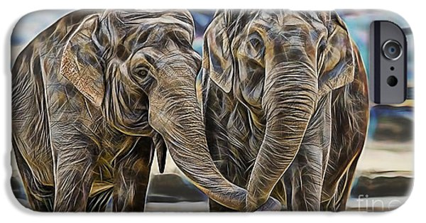 Animals iPhone Cases - True Love iPhone Case by Marvin Blaine