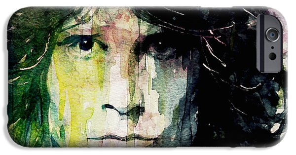 The Blue Face iPhone Cases - True To His Self iPhone Case by Paul Lovering