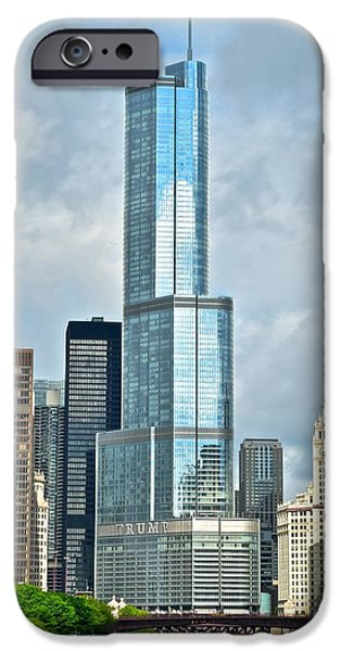 Chicago Cubs iPhone Cases - Trump Tower iPhone Case by Frozen in Time Fine Art Photography