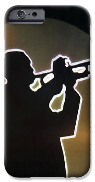 Trumpet - Classic Jazz Music All Night Long iPhone Case by Christine Till