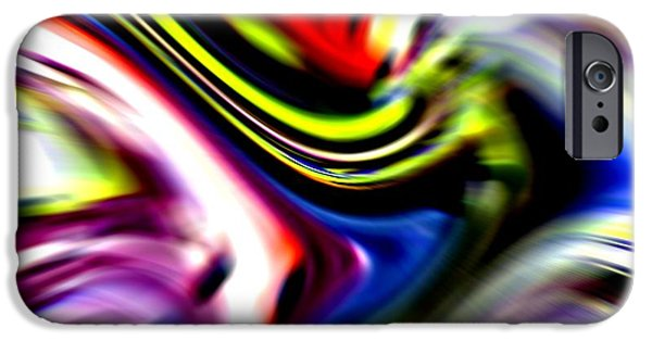 Abstract Digital Pastels iPhone Cases - Trumpet Vibration  Catus 1 no. 1 V b iPhone Case by Gert J Rheeders