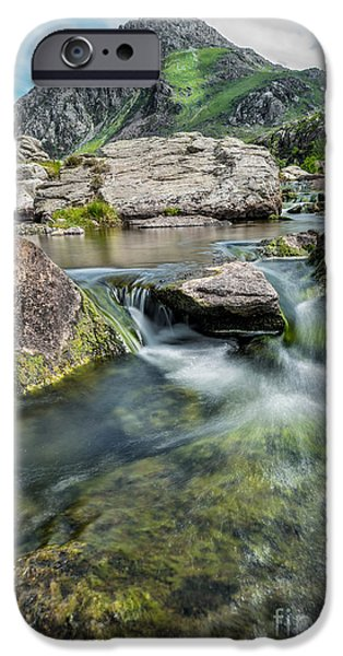 River iPhone Cases - Tryfan In The Ogwen Valley iPhone Case by Adrian Evans