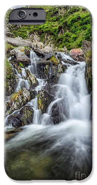 Rapids iPhone Cases - Tryfan Mountain Rapids iPhone Case by Adrian Evans