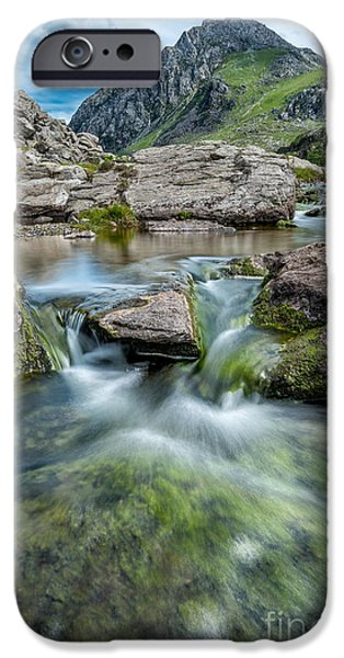 River iPhone Cases - Tryfan Stream iPhone Case by Adrian Evans