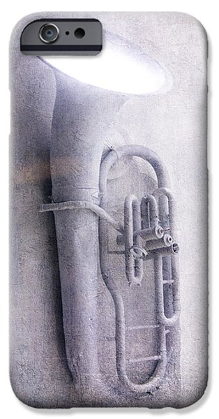Texture iPhone Cases - Tuba light iPhone Case by Garry Gay