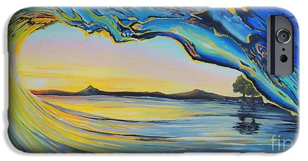 Beach Landscape iPhone Cases - Tubular Sunset iPhone Case by Merrin Jeff