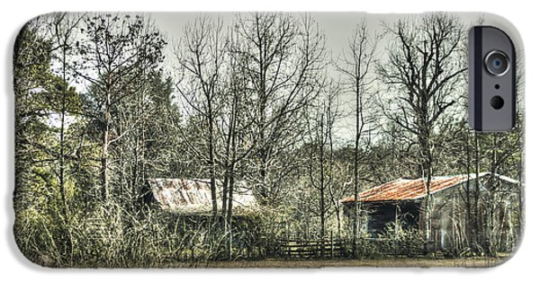 Old Barns iPhone Cases - Tucked Away iPhone Case by Debra Forand