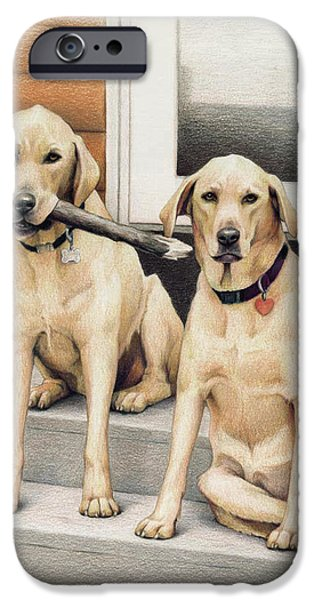 Tucker and Lily iPhone Case by Amy S Turner