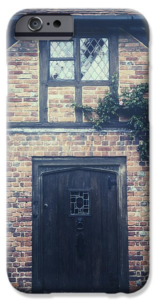Wooden Door iPhone Cases - Tudor cottage iPhone Case by Joana Kruse