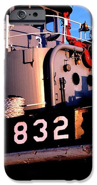 Tug Boat iPhone Case by Thomas R Fletcher