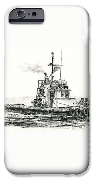 Tugboat KELLY FOSS iPhone Case by James Williamson