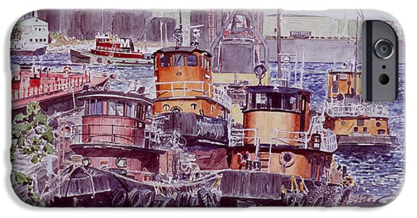 Trawler iPhone Cases - Tugboats Kill Van Kull Staten Island iPhone Case by Anthony Butera