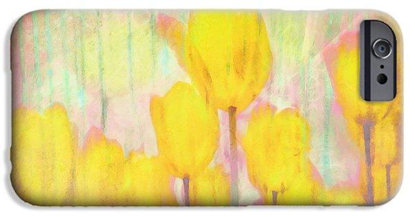 Pastel iPhone Cases - Tulip Watercolor Dreams iPhone Case by Hal Halli
