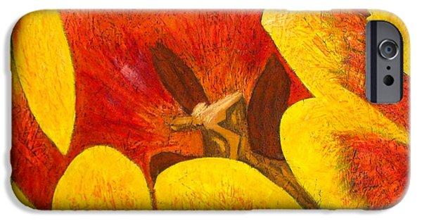 Botanical Pastels iPhone Cases - Tulipan Anaranjado iPhone Case by Karla Kernz