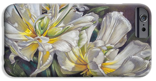 Sears Tower Pastels iPhone Cases - Tulipomania 4 Exotic Emperor iPhone Case by Fiona Craig