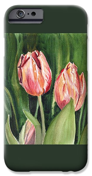 Celebration Paintings iPhone Cases - Tulips  iPhone Case by Irina Sztukowski
