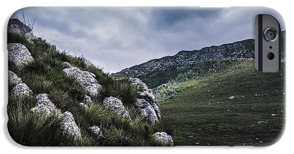 Park Scene iPhone Cases - Tullah and Queenstown rock valley landscape  iPhone Case by Ryan Jorgensen