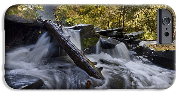 Oak Creek iPhone Cases - Tumbling iPhone Case by Debra and Dave Vanderlaan