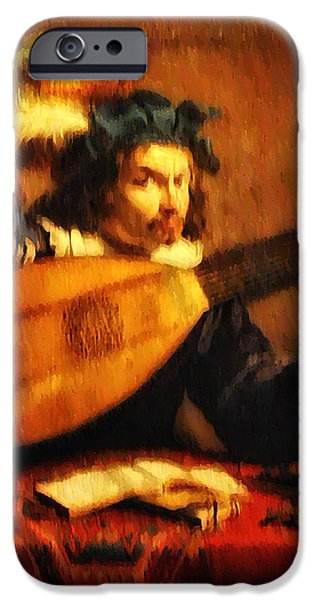Tuning Up the Lute iPhone Case by Bill Cannon