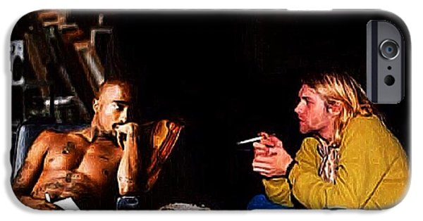 Dave iPhone Cases - Tupac and Kurt iPhone Case by J S