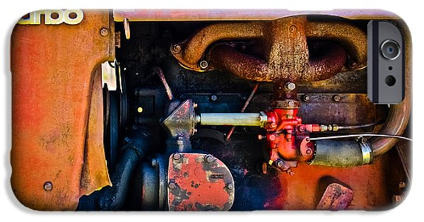 Mechanism iPhone Cases - Turbo Tractor iPhone Case by Colleen Kammerer