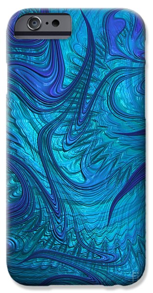 Fractal iPhone Cases - Turbulence iPhone Case by John Edwards
