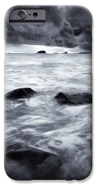 Storm iPhone Cases - Turbulent Seas iPhone Case by Mike  Dawson